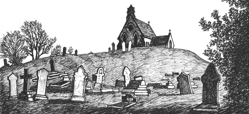 Illustration Kimberley Cemetery Chapel Nottinghamshire (the Chapel on the Hill)