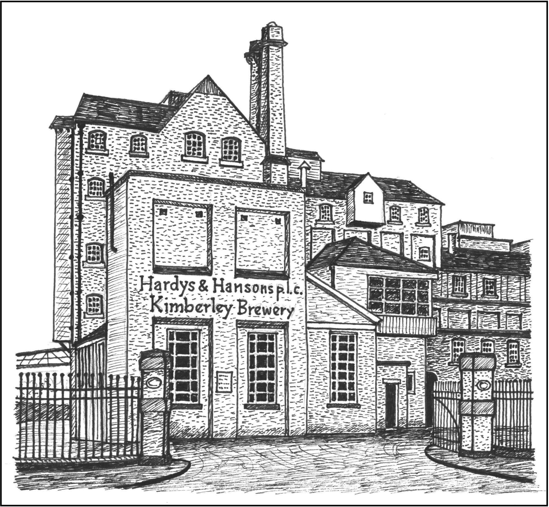 Illustration - A Brief History of Kimberley Notts: Hardy and Hansons Brewery